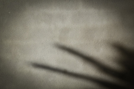 black shadow on cement concrete dark wall texture background in construction site industry