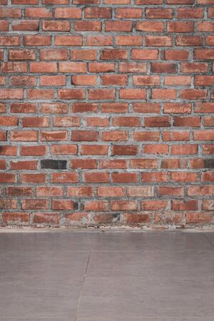 brick wall retro vintage background Stock Photo