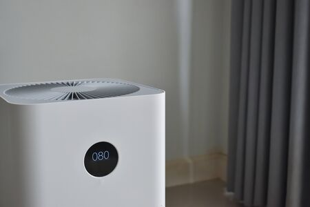 air purifier system cleaning dust pm 2.5 pollution in living room