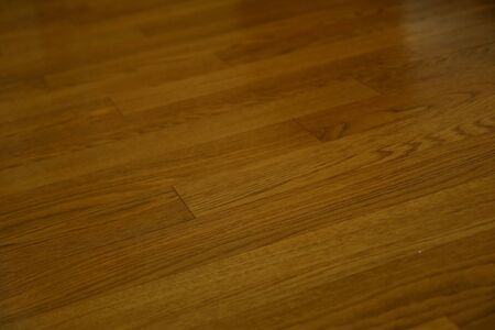 brown wood laminate clean floor polished in home Фото со стока