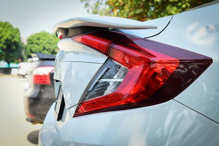 modern taillight of sport car
