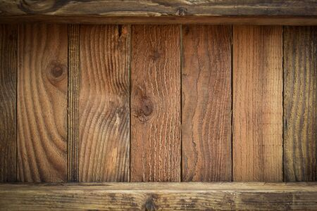 brown wood barn texture background of timber case box from old wooden plank pallet weathered Imagens