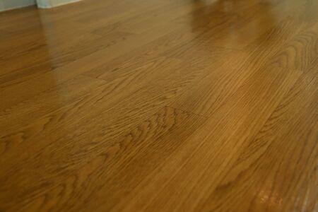 brown wood laminate clean floor polished in home