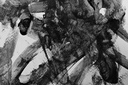 abstract black texture messy feeling background, mono tone of watercolor painting on paper