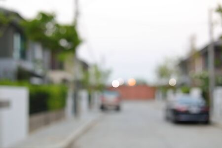 residential building in village house, image blur background