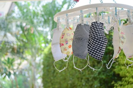washing clean fabric mask hanging dry disinfect for wearing reuse