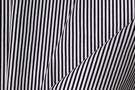 fabric black and white stripe pattern modern style, abstract fashion trendy cloth texture background