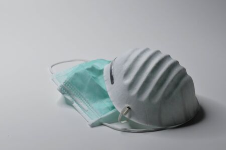 hygiene face mask on white background