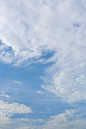 dramatic white cloud on blue sky, nature background