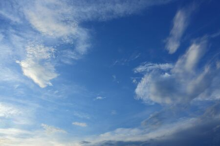 white cloud on blue sky background Banco de Imagens