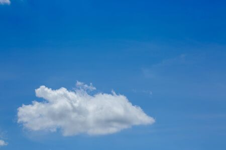 fluffy white cloud on air clear blue sky weather background