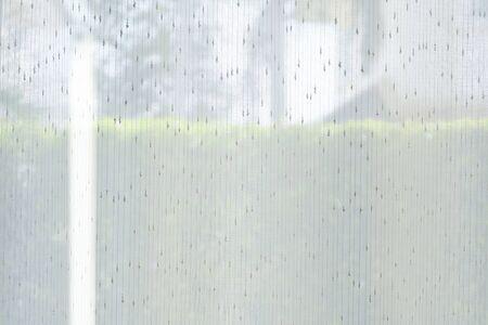 drapery white curtain interior decoration room Banco de Imagens