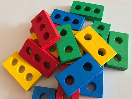 Colorful wooden toys