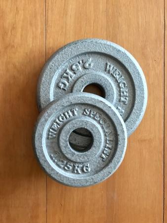 iron: Gym equipment Stock Photo
