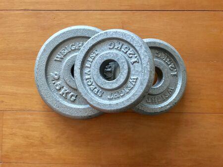 iron: Weight training Stock Photo