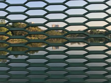 metallic: Outdoor metal fence