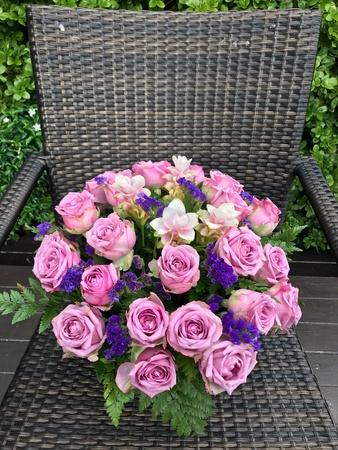 Flower bouquet in the garden