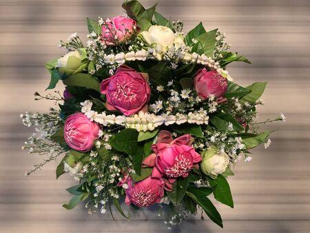 Indian lotus flower bouquet