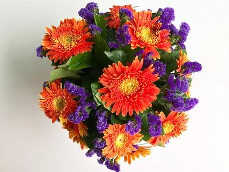 Orange gerbera flower bouquet