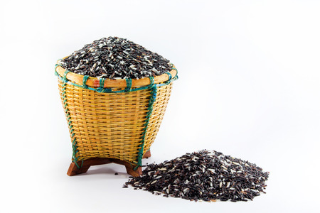 scatter: Rice berries in basket