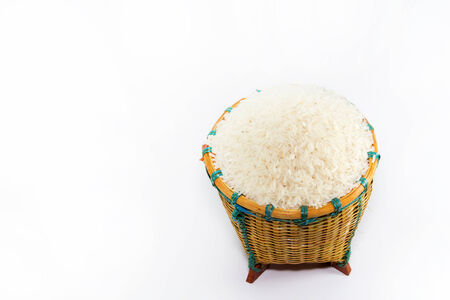 Rice in basket photo