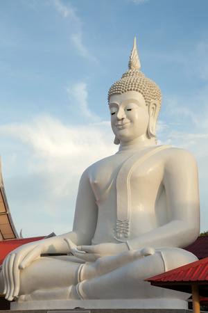 regards: Pra jao Hai Sok  a huge white Buddha statue. The Sri ChomPoo. Muang. Sakon Nakhon Thailand.