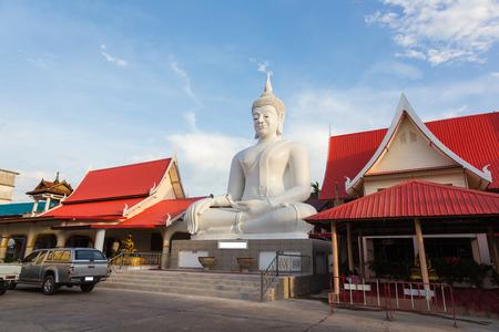regards: Pra jao Hai Sok  a huge white Buddha statue. The Sri ChomPoo. Muang. Sakon Nakhon Thailand.
