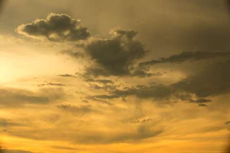 colorful cloudscape: Colorful evening sky Before the rain came Stock Photo