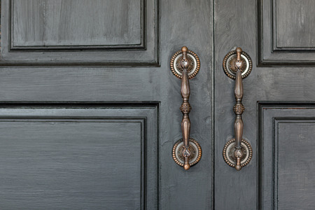 Vintage style door handles beautifully.
