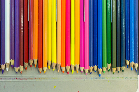 stock photos: Colorful pencils Use a pencil to paint a painting or drawing. Stock Photo