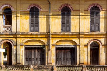 100 year old house at Tharae village sakon Nakhon Thailand Banco de Imagens