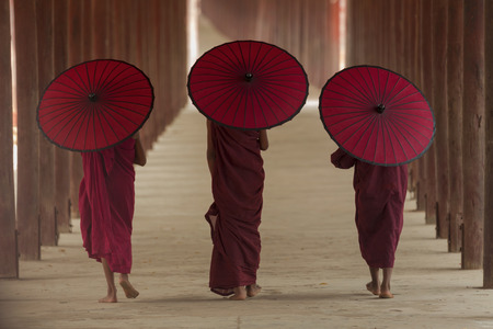 Asian,Life of a Buddhist monk in Burma.