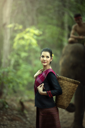 mahout: Mahout woman in traditional dress