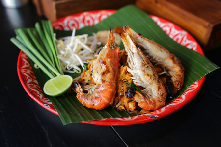 Asian food noodle style or Pad thai in Bangkok,Thailand.