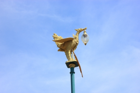 Thai Literature bird lamp in the sky photo