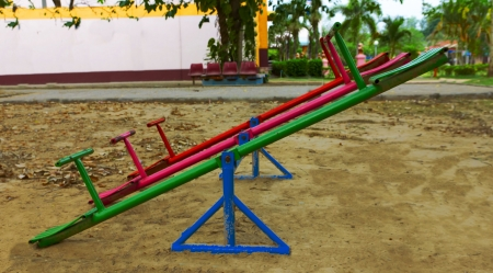 colorful swing on the playground Stock Photo - 19192353