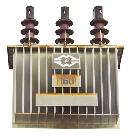 isolators: transformer on high power station   Stock Photo