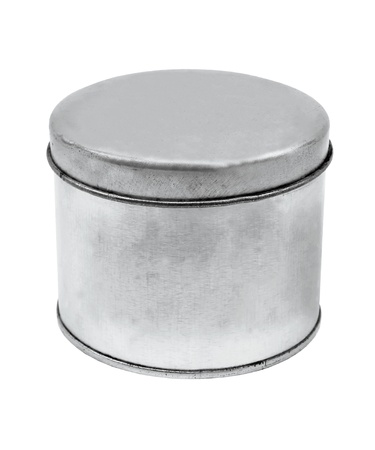 silver Tin Can design product package photo