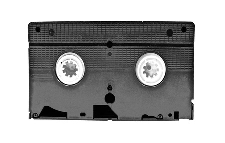 videocassette: Old video cassette standard isolated on white background Stock Photo