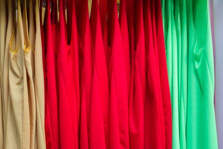 T-Shirt  on hangers Fashion Store Style Thailand