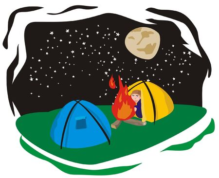 campamento de verano: campamento de verano Vectores
