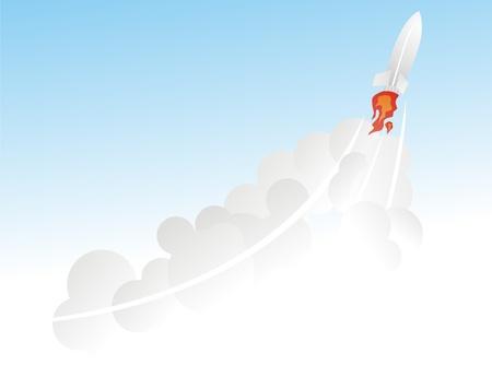 bombing: flying rocket