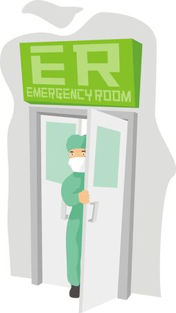 emergency room Vector