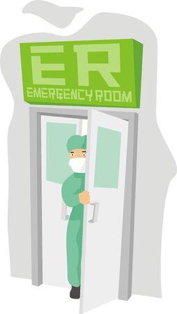 emergency room: emergency room Illustration