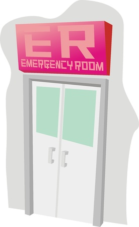 sala de emergencia Ilustración de vector