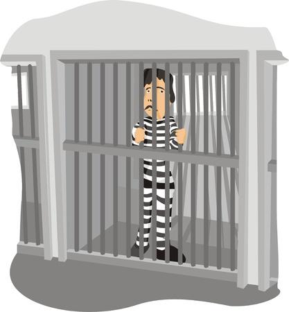 l'homme en prison Vecteurs