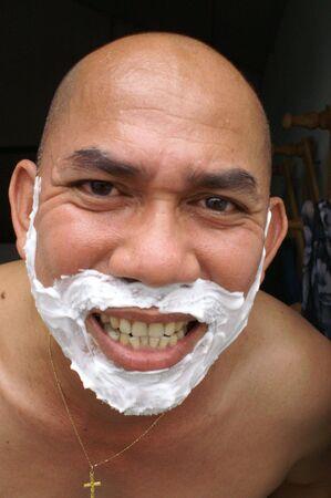 shaver: shaver foam Stock Photo