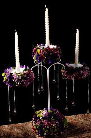 candle bouquet photo