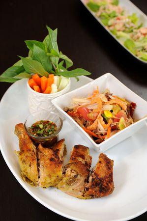 thai salad somtam photo