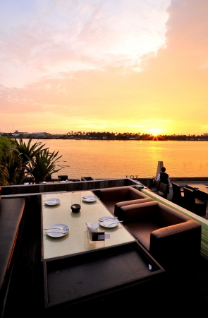 dining area: sunset
